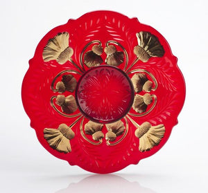 Inverted Thistle Glass Platter - 4 Color Options - Baby Gifts