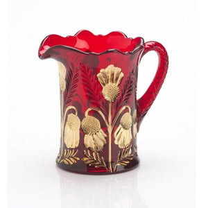 Inverted Thistle Glass Pitcher - 4 Color Options - Baby Gifts