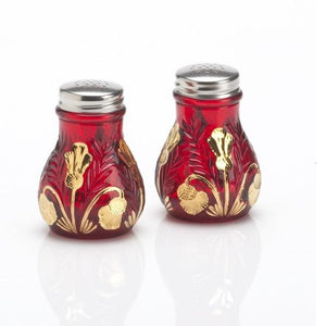 Inverted Thistle Glass Salt & Pepper Shaker Set - 4 Color Options - Baby Gifts