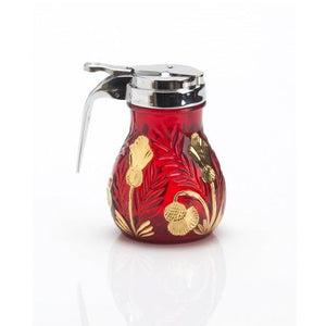Inverted Thistle Glass Syrup Pitcher - 4 Color Options - Baby Gifts