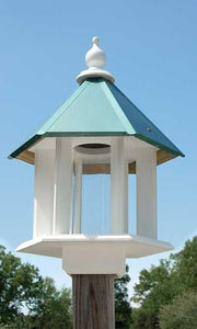Azalea Bird Feeder, Verdigris Roof - Fortune And Glory - Made in USA Gifts