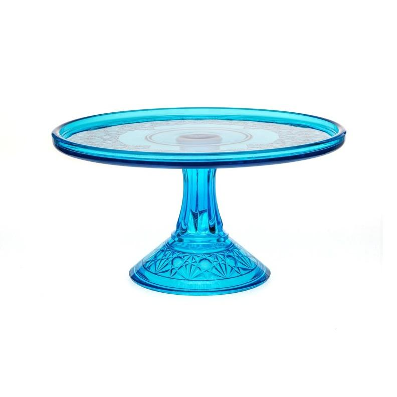 Queen Set Glass Cake Plate - 2 Color Options