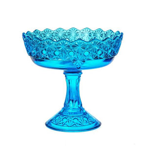 Queen Set Glass Compote - 2 Color Options - Colonial Blue - Baby Gifts