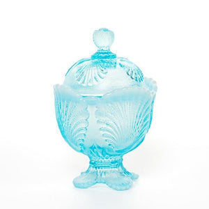 Shell Glass Sugar Bowl - 3 Color Options - Fortune And Glory - Made in USA Gifts