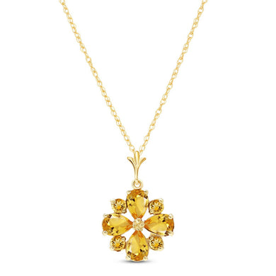 14 Karat Gold Ray Of Life Citrine Pendant