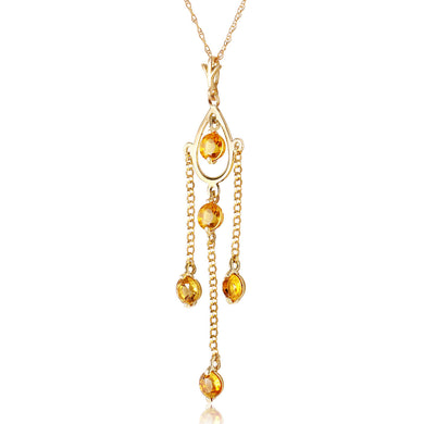 14 Karat Gold Ray Of Faith Citrine Pendant