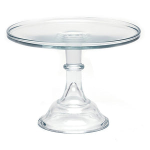 Round Cake Stand & Optional Glass Dome - 11 Colors