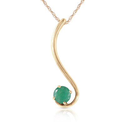 14 Karat Gold Life By The River Emerald Pendant