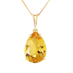 14 Karat Gold Only You Citrine Pendant
