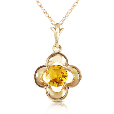 14 Karat Gold Sigh Of Relief Citrine Pendant