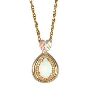 Beautiful Opal Pendant & Necklace - Black Hills Gold - Jewelry