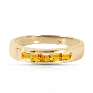 14 Karat Yellow Gold Tangerine Sherbet Citrine Ring