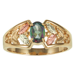 Mystic Fire Topaz Black Hills Gold Ring II - Fortune And Glory - Made in USA Gifts