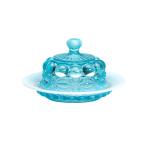 Eye Winker Glass Butter Dish - 6 Color Options