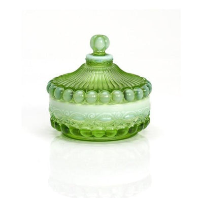 Eye Winker Covered Candy Dish - 4 Color Options - Green Opal - Baby Gifts