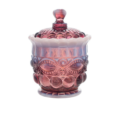 Eye Winker Glass Sugar Bowl - 4 Color Options