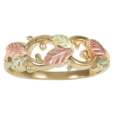 Fancy Leaves Black Hills Gold Ring - Fortune And Glory - Made in USA Gifts