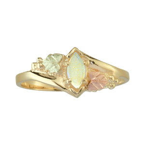 Sparkling Opal Black Hills Gold Ring I - Fortune And Glory - Made in USA Gifts