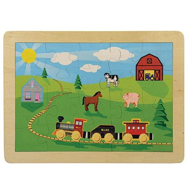 Puzzle Countryside Railroad - Wooden Toys