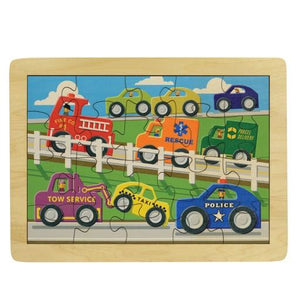 Puzzle Busy Highway - Wooden Toys