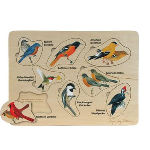 Puzzle Petersons Backyard Birds - Wooden Toys