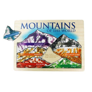 Lift & Learn Mountain Peaks Wooden Puzzle - Fortune And Glory - Made in USA Gifts
