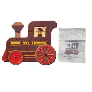 Shaped Jigsaw Wooden Puzzle Train Engine - Wooden Toys