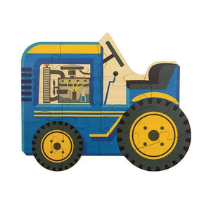 Shaped Jigsaw Wooden Puzzle Tractor - Wooden Toys
