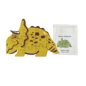 Shaped Jigsaw Wooden Puzzle Dinosaur - Wooden Toys