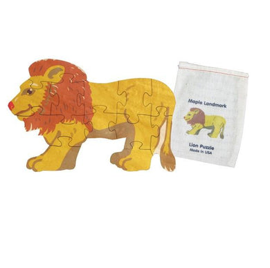 Shaped Jigsaw Wooden Puzzle Lion - Wooden Toys