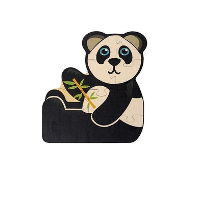 Shaped Jigsaw Wooden Puzzle Panda - Wooden Toys