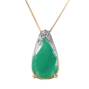 14 Karat Gold World w/ out You Emerald Pendant