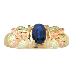 Black Hills Gold Sapphire Ring - Fortune And Glory - Made in USA Gifts
