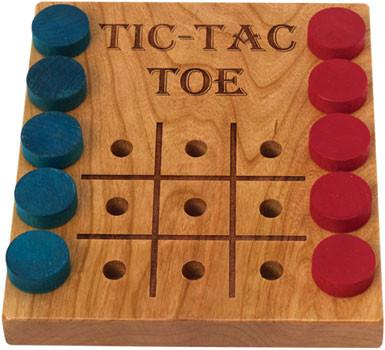 Tic-Tac-Toe Deluxe Cherry - Wooden Toys