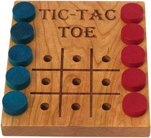 Tic-Tac-Toe, Deluxe Cherry - Fortune And Glory - Made in USA Gifts