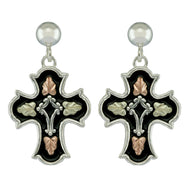 Antiqued Cross Drop Earrings - Black Hills Gold