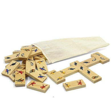 Dominoes Backyard Birds - Wooden Toys