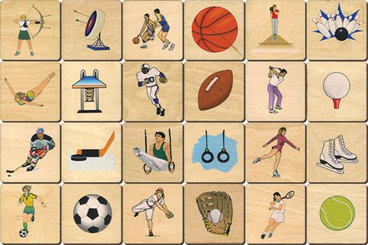 Sports Memory Tiles Game