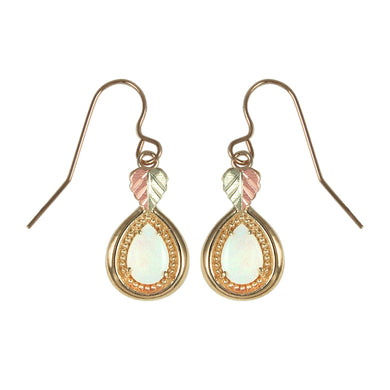 Teardrop Opals Black Hills Gold Earrings - Jewelry