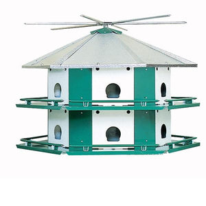 Mini-Castle Safety System with Pole 12 Room Bird House - Birdhouses