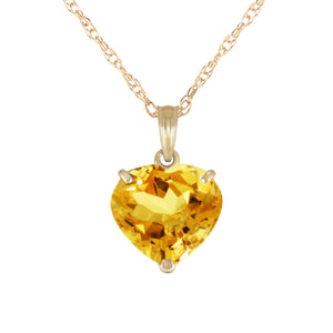 14 Karat Gold w/ Natural 10mm Heart Citrine Pendant