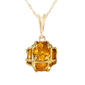14 Karat Gold w/ Natural Citrines Pendant