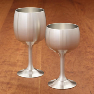 Pewter Wine Goblet 6 Ounce - Fortune And Glory - Made in USA Gifts
