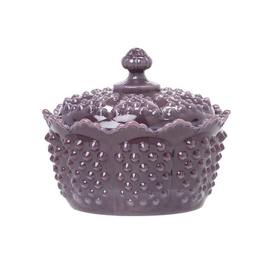Gigi Glass Hobnail Butter Tub - 4 Color Options