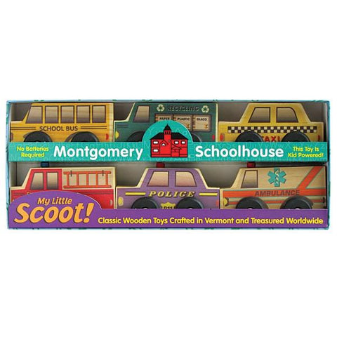 Scoot Wooden Cars Community Set