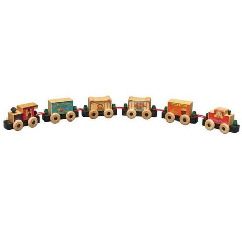 Circus Railway Wooden Train Box Set - Maple Landmark