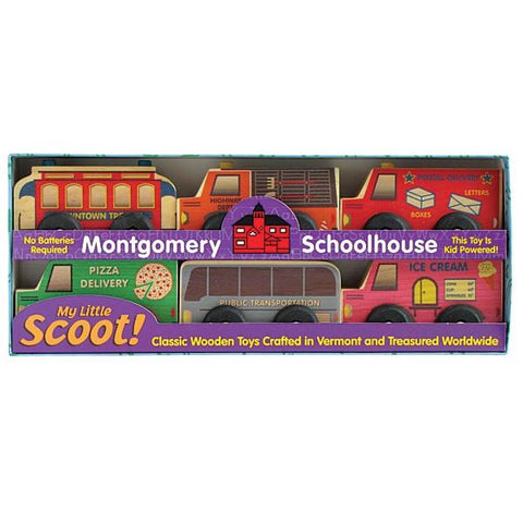 Scoot Wooden Cars Service Set