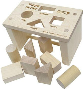 Shape Sorter Bench - Fortune And Glory - Made in USA Gifts