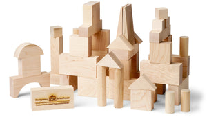 Blocks, Junior Builder, 41 Piece - Maple Landmark - Fortune And Glory - Made in USA Gifts
