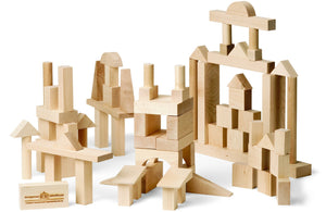 Blocks, Advanced Builder, 78 Piece - Maple Landmark - Fortune And Glory - Made in USA Gifts